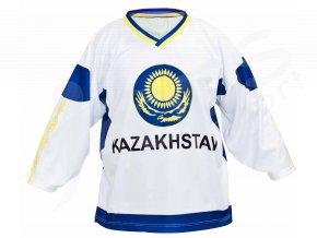 Hokejový dres Kazachstán TOP - bílý