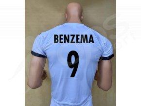 fotbalovy dres real madrid karim benzema