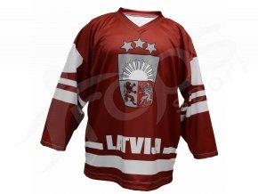 Hokejový dres Lotyšsko TOP - červený