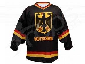 Hokejový dres Německo TOP - černý