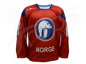 Hokejový dres Norsko TOP - červený