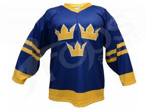 Hokejový dres Švédsko TOP - modrý