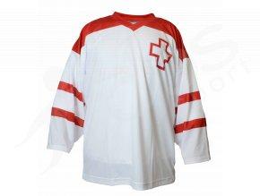 Hokejový dres Švýcarsko TOP - bílý