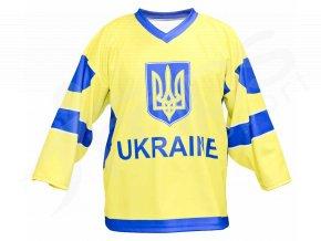 Hokejový dres Ukrajina TOP - žlutý