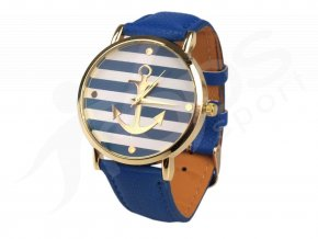 damske namornicke hodinky s kotvou modre