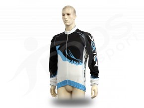 Cyklistický TERMO dres PROFI FOOT - modrý