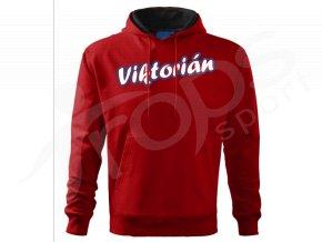 mikina viktorian cervena