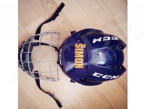 jmeno na hokejovou helmu