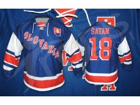 hokejovy retro dres slovensko modry