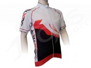 Cyklistický dres PROFI FOOT - červený