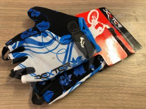 cyklo rukavice dexter lady modre