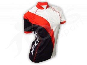 Cyklistický dres dámský WAVE - červeno-bílý