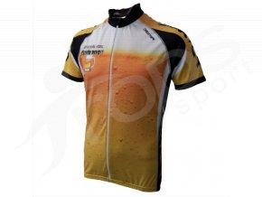 Cyklistický dres PIVO silniční - žlutý