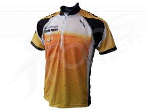 Cyklistický dres PIVO MTB - žlutý