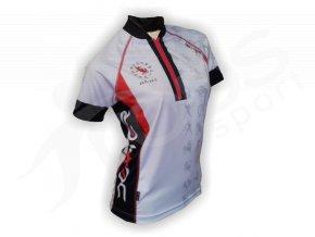 08d7326023ade Cyklistický dres ZVĚROKRUH silniční dámský - bílý