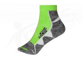 sportovni ponozky james nicholson zelene