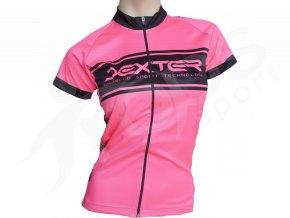 damsky cyklisticky dres neon ruzovy