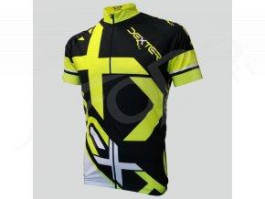 cyklisticky dres dexter mondrian cerny