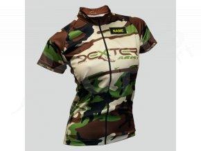 damsky cyklisticky dres silnicni army