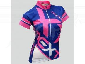 damsky cyklisticky dres dexter mondrian modry