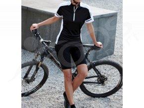 damsky cyklisticky dres bike t cerny