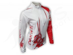 Cyklistický termodres dámský FLOWERS - bílý