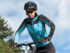 damsky cyklisticky dres spiro bike long modry