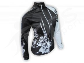 Cyklo bunda dámská FLOWERS - černá