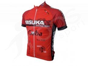 Cyklistický dres YASUKAM - červený
