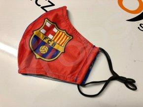 ochranna rouska fc barcelona cervena