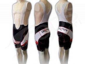 Cyklistické kalhoty s laclem FOOT - krátké červené
