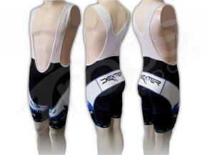 Cyklistické kalhoty s laclem FOOT - krátké modré