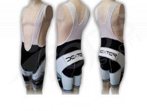 Cyklistické kalhoty s laclem FOOT - krátké šedé