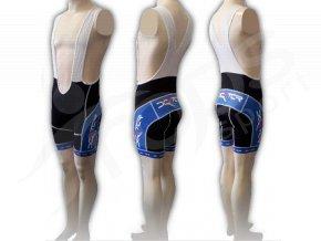 Cyklistické kalhoty s laclem IMAGE - krátké modré