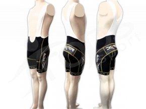 Cyklistické kalhoty s laclem IMAGE - krátké zlaté