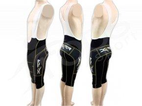 Cyklistické kalhoty s laclem IMAGE - golfky zlaté