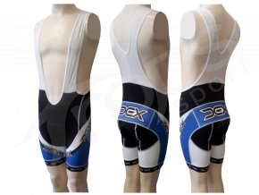 Cyklistické kalhoty s laclem LANCE - krátké modré