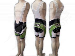 Cyklistické kalhoty s laclem LANCE - krátké zelené