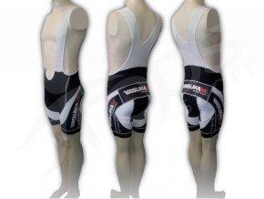 Cyklistické kalhoty s laclem YASUKAM - krátké černé