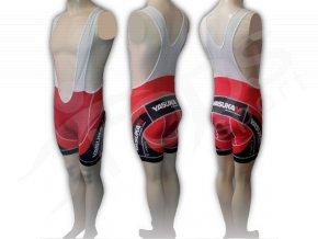 Cyklistické kalhoty s laclem YASUKAM - krátké červené