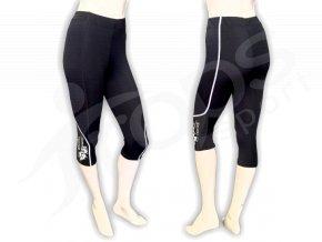 Cyklistické kalhoty FLOWERS dámské - golfky, černé