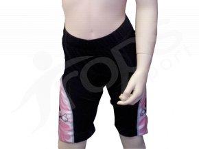 Cyklistické kalhoty SUBLI dětské - růžové