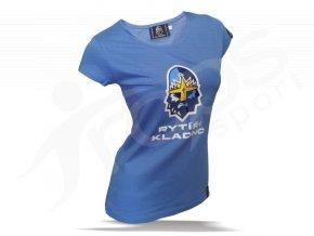 Tričko dámské RYTÍŘI KLADNO - modré