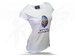 Tričko dámské RYTÍŘI KLADNO - bílé