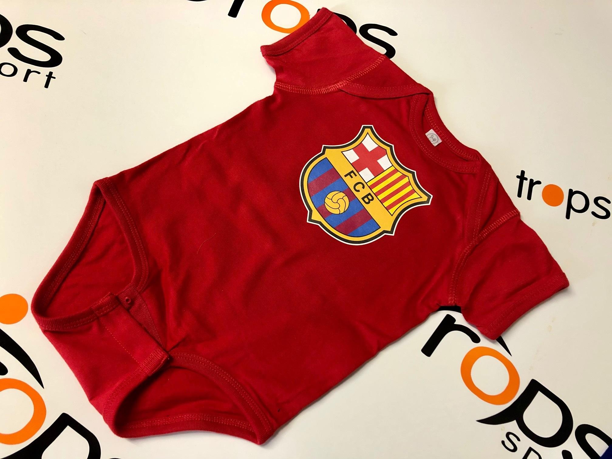 Dětské body FC Barcelona domácí Velikost: 0-3 měsíců, Lze dotisknout: Vzhled dle obrázku