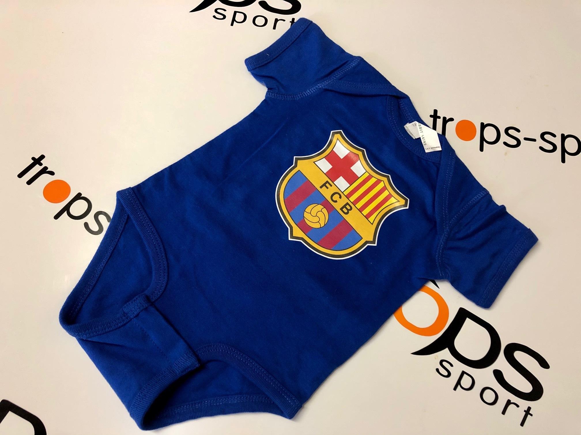Dětské body FC Barcelona domácí Velikost: 0-3 měsíců, Lze dotisknout: Jméno a číslo na záda