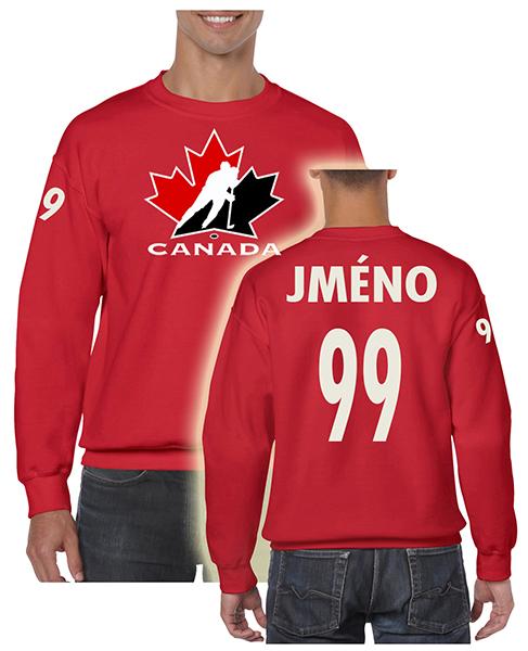 Trops-Sport Mikina Kanada klasic Velikost: S, Lze dotisknout: Jméno a číslo na záda, čísla na rukávy