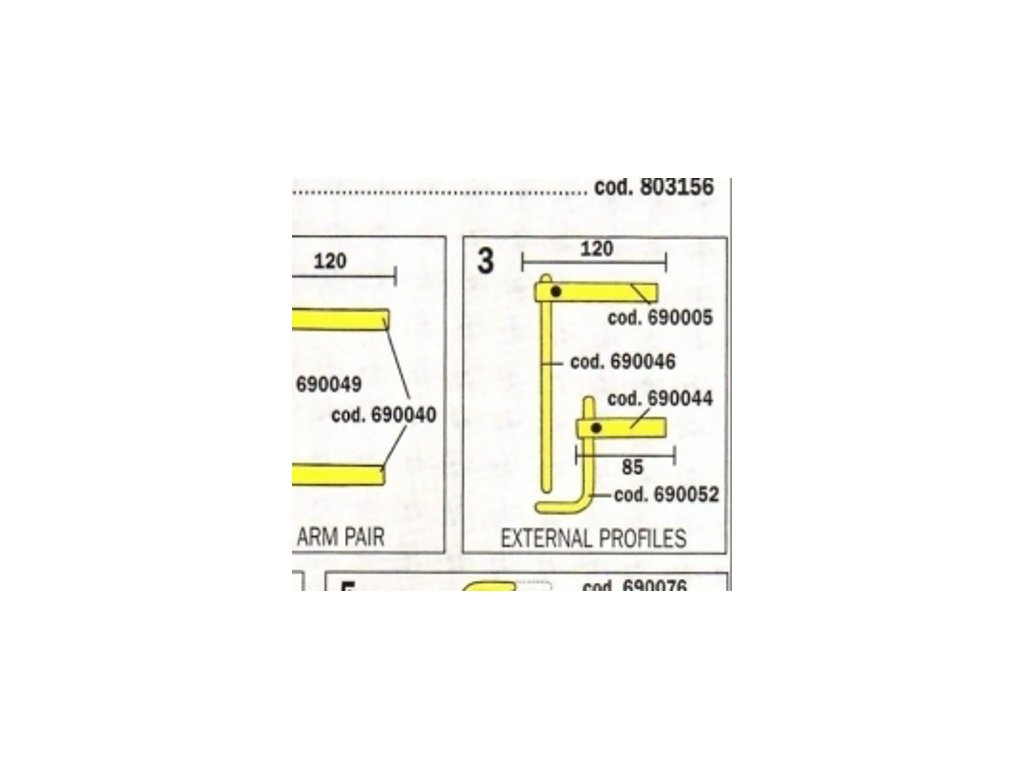 Čeľuste 120 mm pre Digital Modular 803158 Telwin