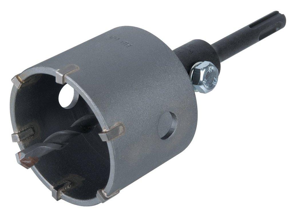 Wolfcraft dutá vrtací korunka s upínacím trnem SDS-plus pr. 76 mm 5460000