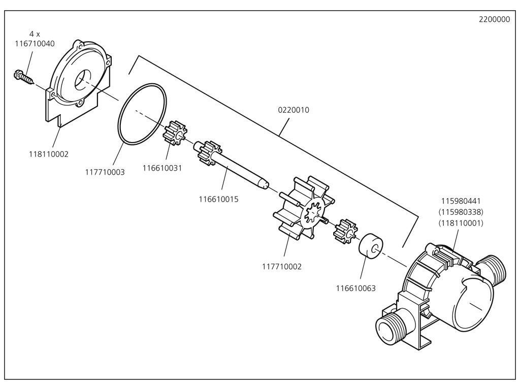 Náhradný diel Držák šroubovací B3,9x13, DIN7981, 2200/01(116710040) pro Pumpa Wolfcraft 2200000